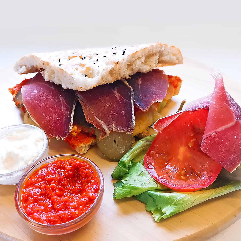 Proschiutto sandwich